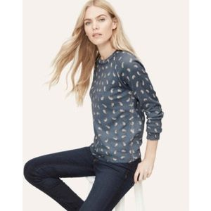 LOFT paisley crewneck sweater